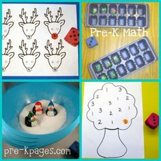 Pre-K Math Centers — Pre-K Pages.  The tree is a good one, the dice correlate with the numbers on the tree, counting and recognition