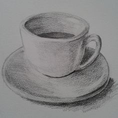 a cup of honey lemon tea by qianqianheo on DeviantArt Pencil Shading Techniques, Pencil Drawings For Beginners, Beginner Sketches, Shading Drawing, Pencil Sketch Drawing, Pencil Art Drawings, Cool Art Drawings, Realistic Drawings, Art Drawings Sketches