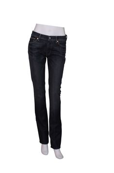 Thank the God of Jeans that high waisted denim is back! This means that these jeans will fit beautifully and stay in place as you bend and twist on the dance floor (or the supermarket!). The straight leg styling means that the length of your legs is elongated – adding miracle inches to your height. The mid-dark wash is also flattering.
