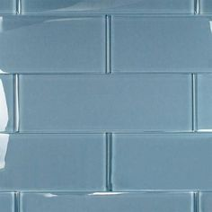 Splashback Tile Contempo Blue Gray Polished 4 in. x 12 in. x 8 mm Glass Subway Tile-CONTEMPO BLUE GRAY POLISHED 4 X 12 - The Home Depot