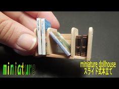 tutorial: miniature bookshelf with sliding bookends