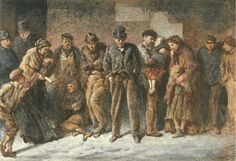 British Paintings: (Sir) Samuel Luke Fildes - Homeless and Hungry c1869