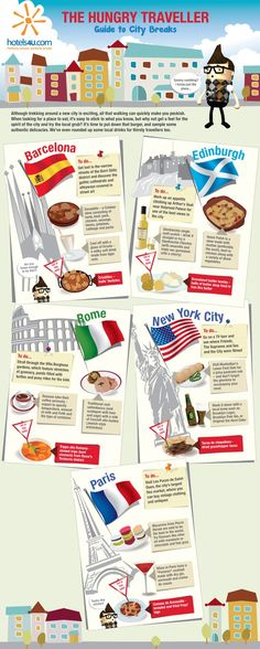 I like this infographic because it relates to one of our ideas for an ASF- Which country makes the best food? | #travel #infographic repinned by @Piktochart