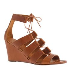 i really like a gladiator wedge.  elongates the leg, much more flattering.