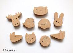 Fridge magnets  Kids fridge magnets  Set of 9 by mielasiela