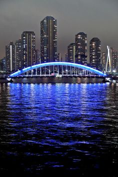 Eitai-bashi bridge over the Sumida Rive - Tokyo, Japan