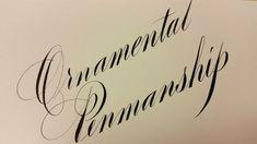 """Ornamental Penmanship"" by Master Penman Jake Weidmann on Strathmore Writing paper"