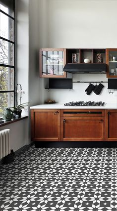 lotus-is-a-traditional-tile-vinyl-flooring-design-that-is-a-geometric-and-floral-inspired-contemporary-take-on-traditional-tile-design-featuring-mode/ SULTANGAZI SEARCH Best Flooring For Kitchen, Vinyl Flooring Kitchen, Wood Floor Kitchen, Modern Flooring, Flooring Ideas, Best Vinyl Flooring, Kitchen Floor Tile Patterns, Kitchen Tiles Design, Floor Design