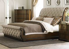 Liberty Cotswold Queen Upholstered Sleigh Bed - 11 Main