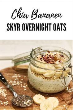 Das bombastisch leckere Powerfrühstück Chia Bananen Sky Overnight Oats