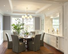 Traditional Dining Room Design, Pictures, Remodel, Decor and Ideas  [page 2] - love the serving bar and the round table