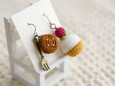 amigurumi sweets earrings