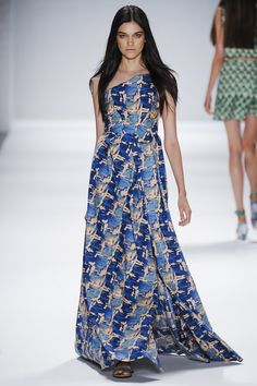 Vivienne Tam Spring/Summer 2014. The fabric colours & pattern are super.