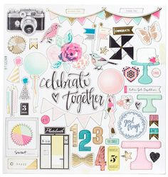 Maggie Holmes - Crate Paper - Confetti Collection - 12x12 Chipboard - SharBearCrafts