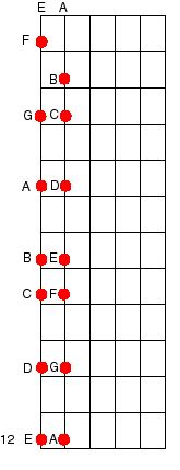 Learn power chords, note names on the sixth and fifth string, strumming patterns, and a bunch more songs to play in guitar lesson four.: Notes on the Neck