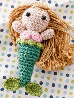 DIY-Anleitung: Meerjungfrau mit langem Haar häkeln via DaWanda.com