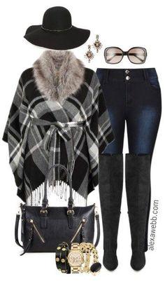 Plus Size Plaid Wrap Outfit - Plus Size Outfit - alexawebb.com #alexawebb