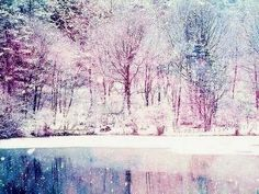 Image about cute in nieve by Marisol Delgado on We Heart It Beautiful Winter Pictures, Pretty Pictures, Winter Love, Winter Snow, Winter Chic, Purple Trees, Snowy Day, Winter Landscape, Color Stories