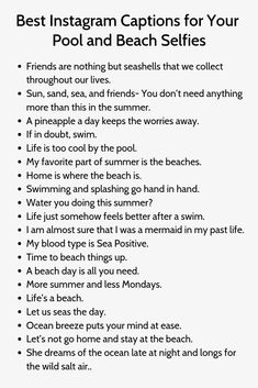 Beach Captions for the Summer Witty Instagram Captions, Attitude Caption For Instagram, Instagram Captions For Selfies, Selfie Captions, Pool Captions, Captions Sassy, Funny Summer Captions, Savage Captions, Snapchat Captions