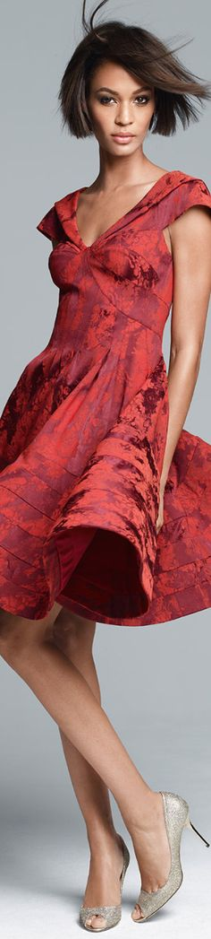 Joan Smalls for Neiman Marcus. So love this dress. The lipstick colours I keep in mind when shopping for Soft Autumn. Chanel Coco Mademoiselle. True Autumn is a step warmer and more pigmented.