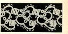 5412 Vintage Tatting PATTERN for Block Pattern by BlondiesSpot, $1.99