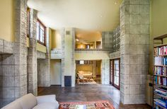 Frank Lloyd Wright's Millard House....I don't know if this is open to the public, but I'd love to tour this one day!