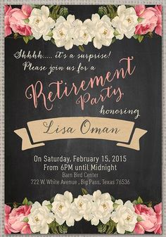 Elegant chalkboard retirement party invitation template retirement image result for retirement party invitations templates stopboris Image collections