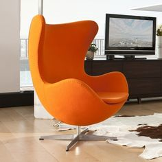 Jacobsen Style Egg Chair.Inmod. Up charge for Tilt function $152 + $70 Special colours or in stock - look online. $1295