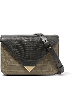 6df3527d2716 Prisma small croc and lizard-effect leather shoulder bag