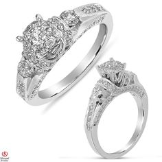 Ebay NissoniJewelry presents - Ladies Diamond Engagement Ring in 14K White Gold with 1.22CT Diamonds    Model Number:UB8137W/SH    http://www.ebay.com/itm/Ladies-Diamond-Engagement-Ring-in-14K-White-Gold-with-1.22CT-Diamonds/321611846688