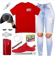 Swag Outfits For Girls, Boujee Outfits, Cute Comfy Outfits, Teenage Girl Outfits, Cute Outfits For School, Chill Outfits, Cute Casual Outfits, Teen Fashion Outfits, Teenager Outfits