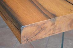 falegnameria bensi.. particolare tavolo legno e vetro