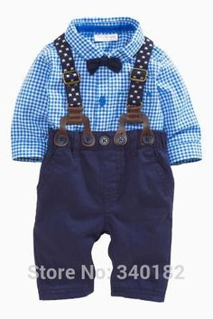 New 2016 autumn gentleman baby boy clothing set infant newborn baby clothes long sleeved shirt + tie + overalls - Lincoln David - [post_tags Outfits Niños, Baby Outfits Newborn, Baby Boy Newborn, Baby Boys, Baby Boy Outfits, Kids Outfits, Baby Boy Fashion, Kids Fashion, Baby Boy Suspenders