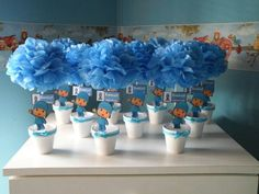 Centros de mesa l Happy Brithday, 1st Boy Birthday, 2nd Birthday Parties, Baby Party, Holidays And Events, First Birthdays, 3 D, Projects To Try, Baby Shower