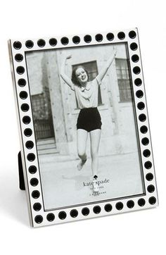 kate spade 'spotted' frame / perfect for displaying your fave photo on your desk!