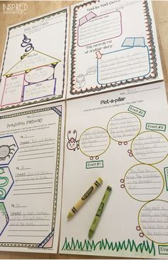 Comprehension and Book Activities to use with any text. Perfect for guided reading groups, literature circles, and independent reading! For grades 2-3