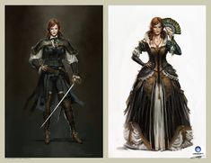Elise de la Serre Concept design.Ubisoft by Okmer female pirate thief rogue assassin armor clothes clothing fashion player character npc | Create your own roleplaying game material w/ RPG Bard: www.rpgbard.com | Writing inspiration for Dungeons and Dragons DND D&D Pathfinder PFRPG Warhammer 40k Star Wars Shadowrun Call of Cthulhu Lord of the Rings LoTR + d20 fantasy science fiction scifi horror design | Not Trusty Sword art: click artwork for source
