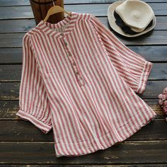 Description:Type : BlousesMaterial: Polyester, CottonSeason: Spring, SummerOccasion: Daily CasualColor: Red, Yellow, GreySize: S, M, L, XL, 2XL, 3XLPackage included:1 * BlouseDue to the difference between different monitors, the picture may not reflect the actual color of the item. ShippingReceiving time = Processing
