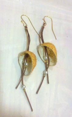 handamade silk cocoons earrings No45