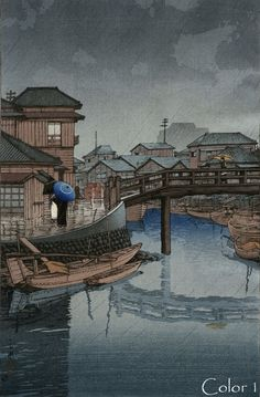 "The Art of Hasui Kawase Hasui Kawase (川瀬 巴水 Kawase Hasui, May 1883 – November was a Japanese artist. He was one of the most prominent print designers of the shin-hanga (""new prints"") Korean Art, Asian Art, Japanese Prints, Japanese Art, Modern Prints, Art Prints, Block Prints, Linocut Prints, Wallpaper Fofos"
