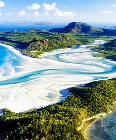 Whitehaven Beach,Whitsunday Island, Australia. I've actually been there, but would like to return.
