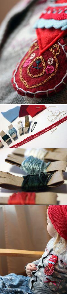Kunniamerkki. lasten   askartelu   joulu   käsityöt   koti   huopa   DIY ideas   kid crafts   christmas   home   felti   Pikku Kakkonen