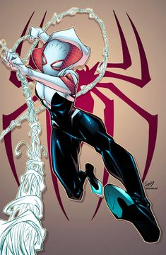 Spidergwen and Spiderman by AlonsoEspinoza on DeviantArt Comics Anime, Marvel Comics Art, Marvel Heroes, Comic Book Girl, Comic Books Art, Comic Art, All Spiderman, Amazing Spiderman, Polaris Marvel