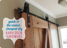 DIY Home Ideas | Find out how to make your own inexpensive Sliding Barn Door Hardware!