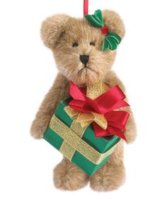 Look what I found on #zulily! 6'' Present Bear Ornament #zulilyfinds