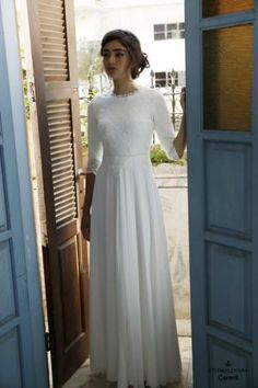 Modest wedding gowns 2016 carmit (4)