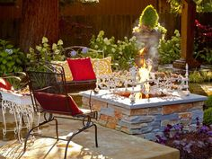 backyard landscaping with fire pit - Bing Images