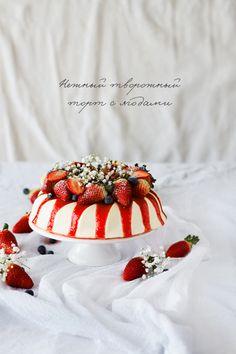 Kasha-Malasha: Нежный творожный торт с ягодами