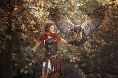Kassandra & Ikaros from Assassin's Creed Odyssey cosplay by Skunk & Weasel photo by eosAndy Assassins Creed Cosplay, Assassins Creed Odyssey, Assassins Creed Tattoo, Lara Croft, Eve Online, Dragon Age, Skyrim, World Of Warcraft, Deutsche Girls