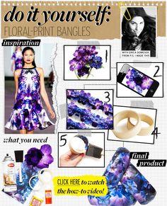 DIY clothes DIY Refashion DIY Floral Print : DIY Floral-Print Bangles